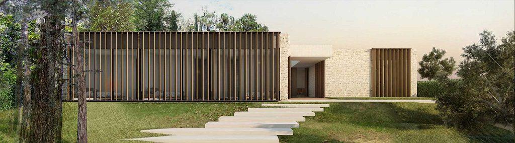 detalle exterior1 7 1024x284 - En La Cañada, casa contemporánea y minimalista a 5 km de Valencia