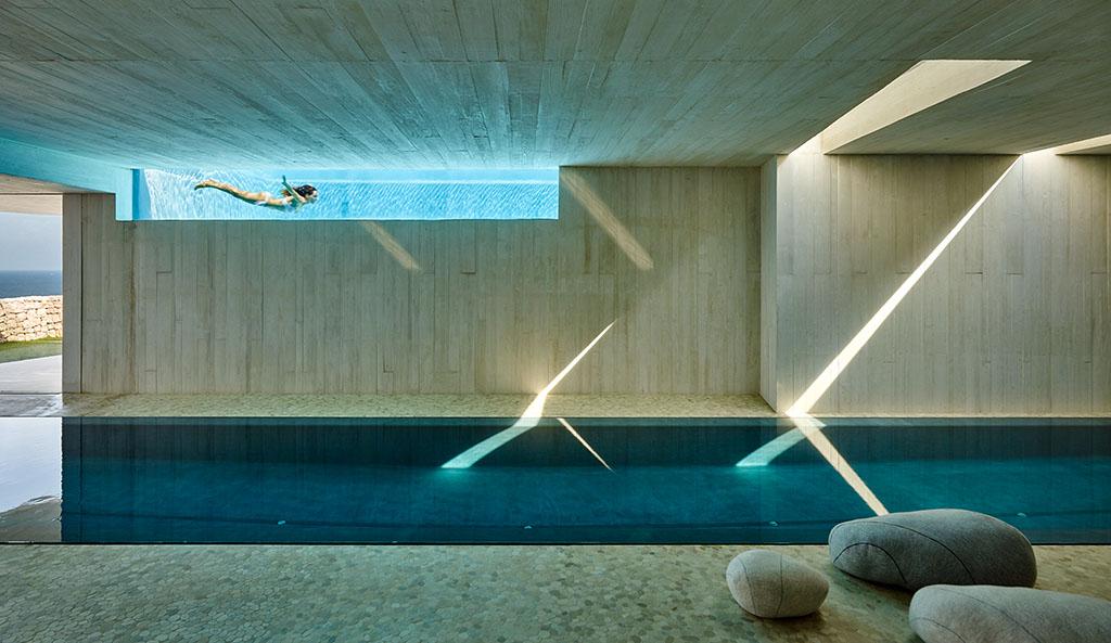 detalle piscinas - Casa Sardinera, Jávea (Costa Blanca): diseño imponente y liviano frente al mar