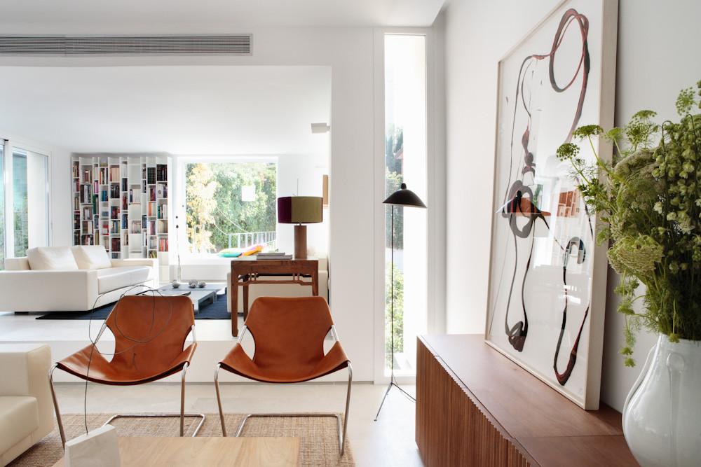 detalle salon 3 - Diseño contemporáneo y luz otoñal en una preciosa casa en Madrid
