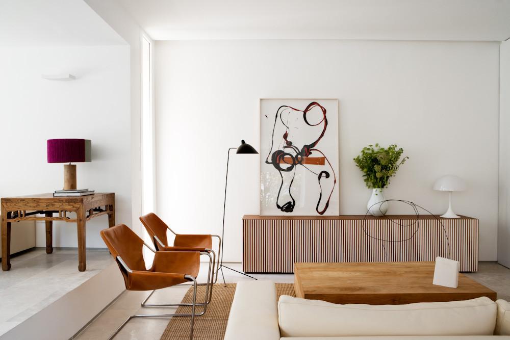 detalle salon1 1 - Diseño contemporáneo y luz otoñal en una preciosa casa en Madrid