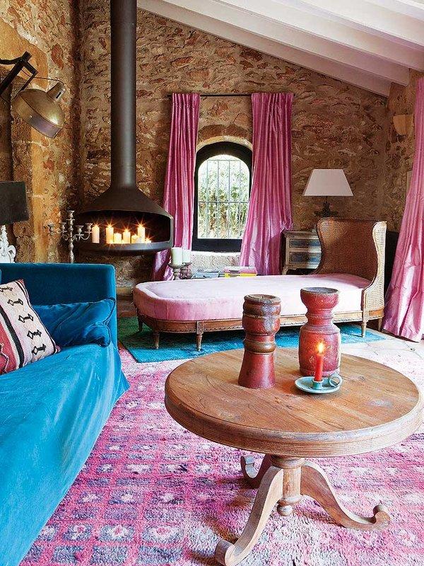 detalle salon2 - Encanto rústico y bohemio en una preciosa casa en Jávea, Costa Blanca (Alicante)