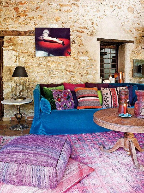 detalle salon3 - Encanto rústico y bohemio en una preciosa casa en Jávea, Costa Blanca (Alicante)