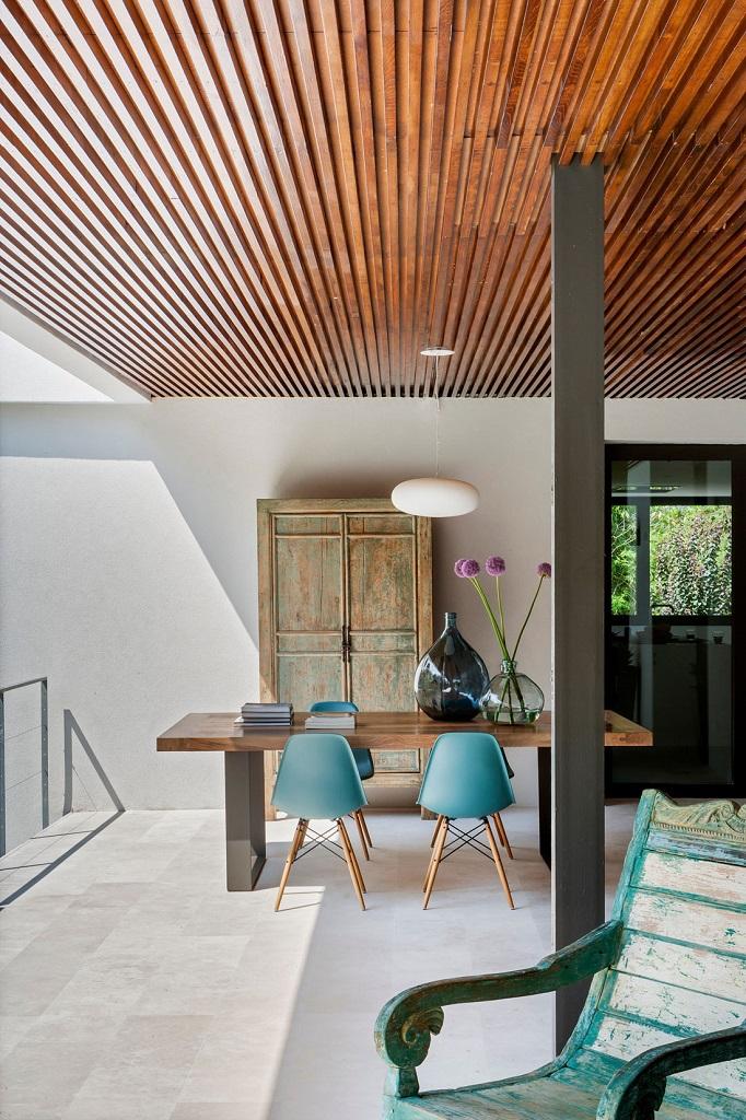 detalle terraza1 - Genial toque otoñal y minimalista en una fantástica casa en La Moraleja (Alcobendas, Madrid)