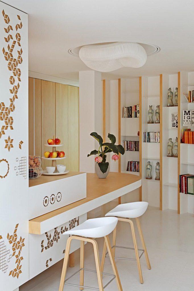 detalleinterior 5 682x1024 - Precioso ático de diseño en Valencia: 70 metros de luz, funcionalidad y encanto