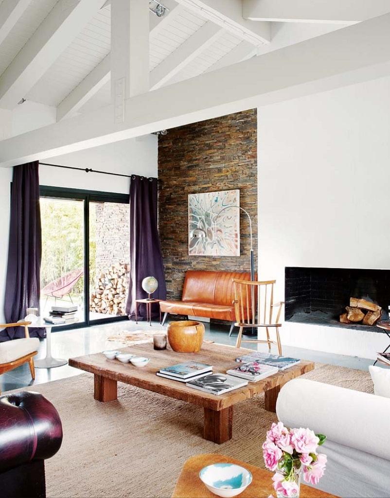 detallesalon1 - Esencia cálida en espacios diáfanos: la casa que soñó ser un loft en contacto con la naturaleza