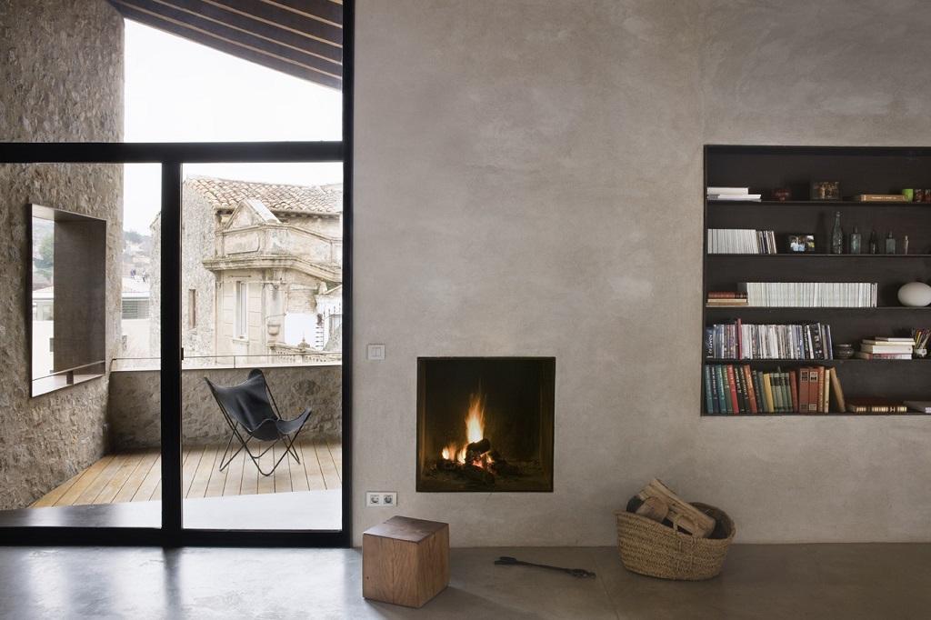 detallesalon3 - Encanto en el Barri Vell de Girona, lo antiguo y lo moderno fundidos a la perfección