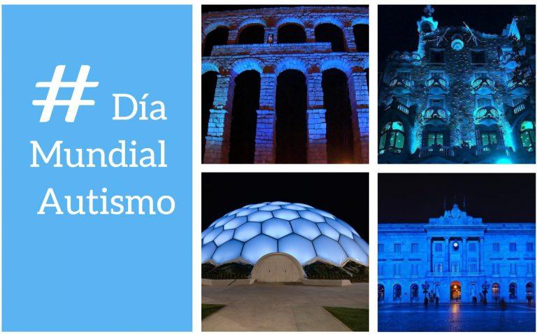 Los edificios más emblemáticos de España se tiñen de azul en el Día Mundial del Autismo