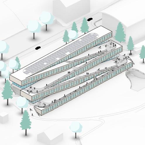 diseño 2 - Este hotel cuenta con un pista de esquí en el techo y se desarrollará en Suiza por Bjarke Ingels Group