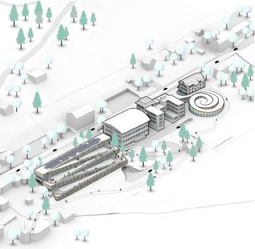 diseño 3 - Este hotel cuenta con un pista de esquí en el techo y se desarrollará en Suiza por Bjarke Ingels Group