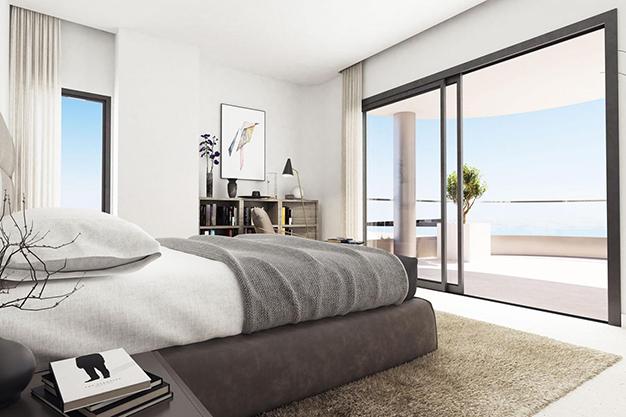 dormitorio 1 1 - Moderno apartamento en Málaga, primera línea de playa