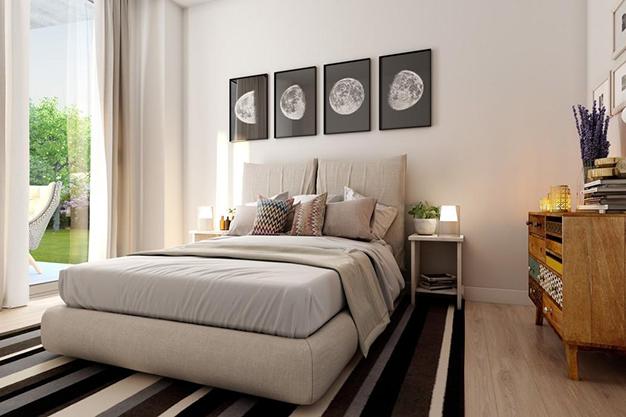 dormitorio 1 malaga - Este piso de lujo en Málaga te atrapará por su diseño moderno y atractivo