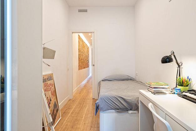 dormitorio 2 piso centro barcelona - Piso en el centro histórico de Barcelona: diseño y lujo para disfrutar de la Ciutat Vella