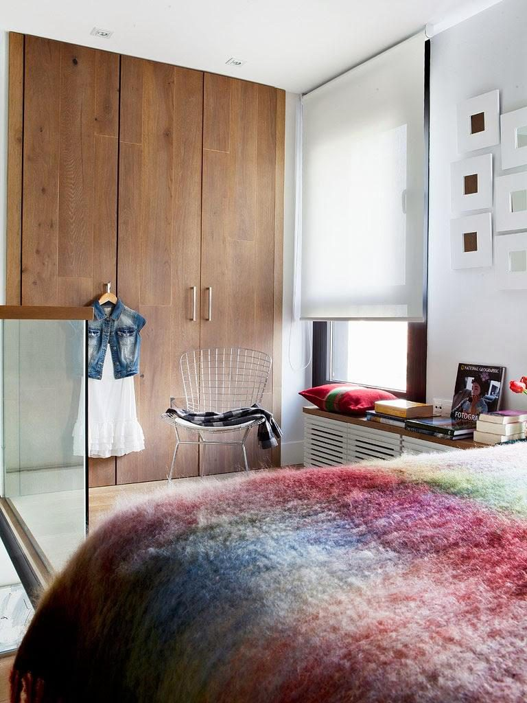 """dormitorio 768x1024 - Toque """"trendy"""" en Madrid, en un precioso loft cálido, femenino y moderno"""