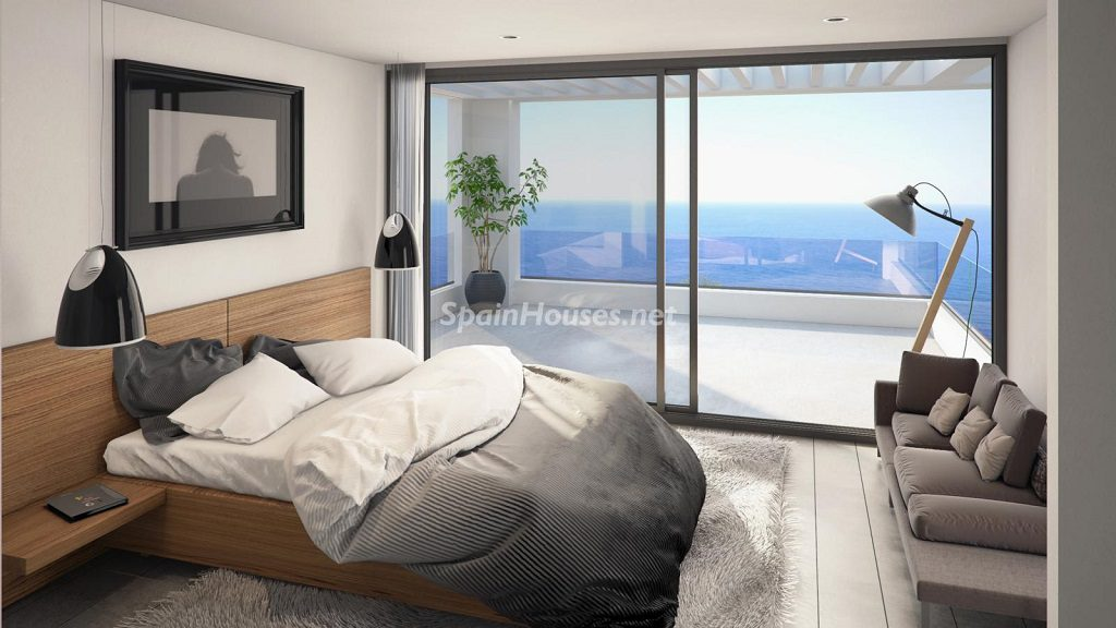 dormitorio 82 1024x576 - Buena Vista Hills, 26 villas modernas con vistas al mar en Mijas (Costa del Sol, Málaga)