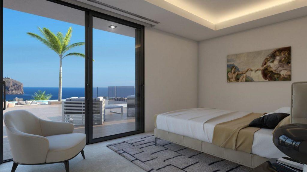 dormitorio 96 1024x576 - A la venta una de las villas más espectaculares de Alicante con increíbles vistas al mar