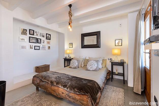 dormitorio ibiza - Piso frente al puerto en Ibiza: todo el encanto marítimo