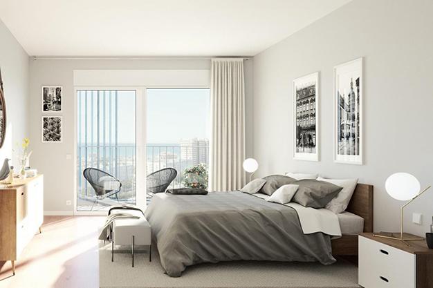 dormitorio piso mallorca - Oportunidad de inversión: exclusivo piso con piscina en Mallorca