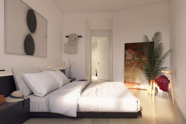 dormitorio principal piso lujo barcelona - Este apartamento de lujo en Barcelona lo tiene todo: amplitud, ambientes modernos y terraza privada