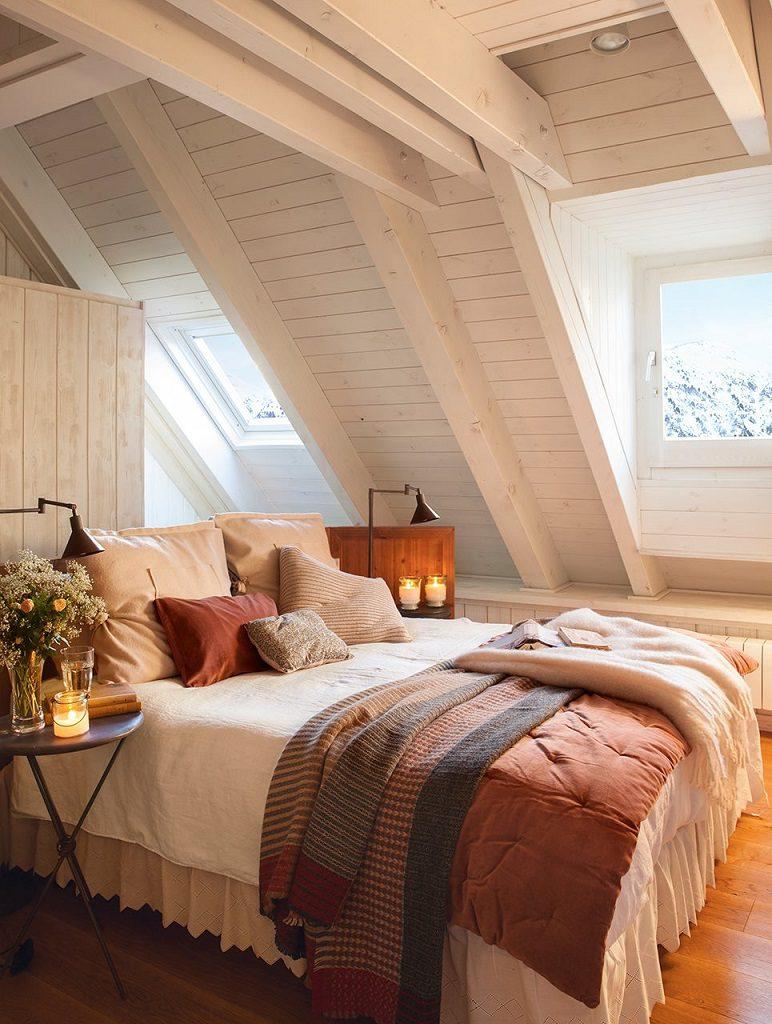 dormitorio1 34 772x1024 - Precioso refugio en Baqueira (Valle de Arán): nieve, montaña y calidez en Lleida