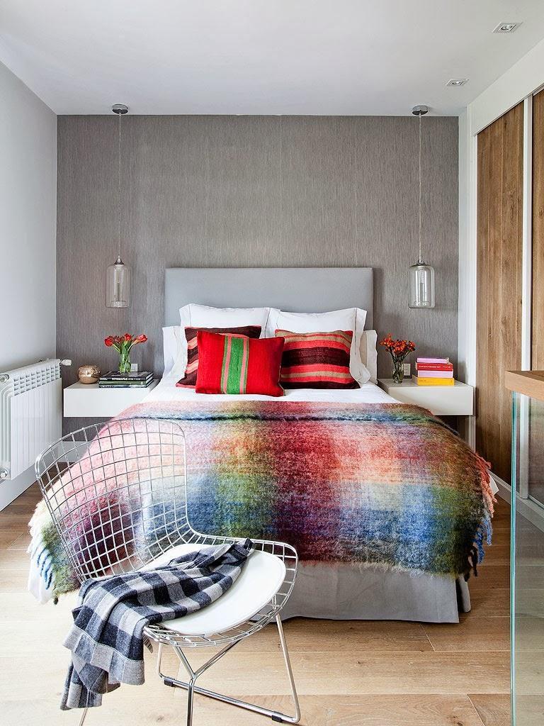 """dormitorio2 768x1024 - Toque """"trendy"""" en Madrid, en un precioso loft cálido, femenino y moderno"""