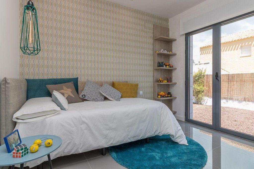 dormitorio3 11 1024x683 - Preciosa casa de diseño en Orihuela Costa (Costa Blanca), en 2ª línea de playa