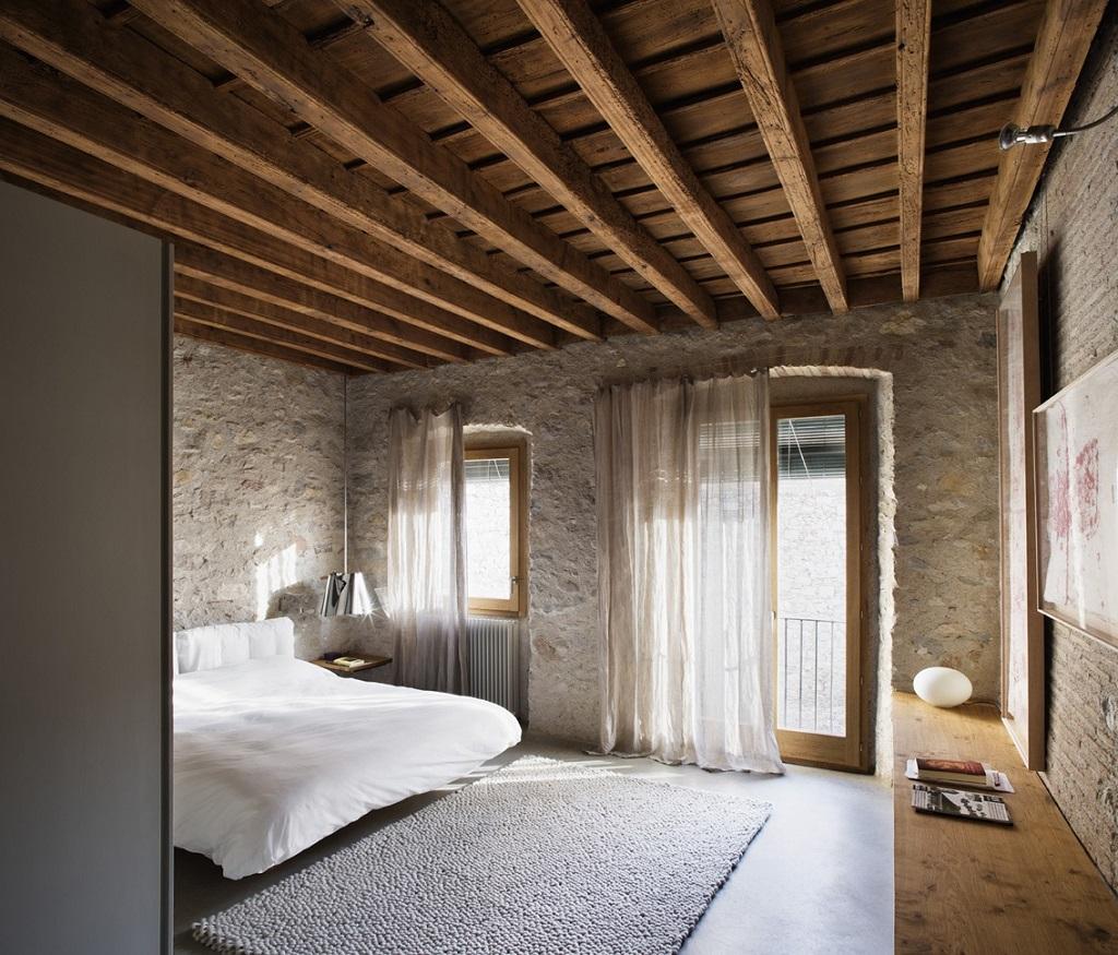 dormitorio44 - Encanto en el Barri Vell de Girona, lo antiguo y lo moderno fundidos a la perfección