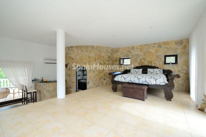dormitorio73 - Bonita villa en Santa Eulalia (Ibiza, Baleares): toque mediterráneo y mucha privacidad