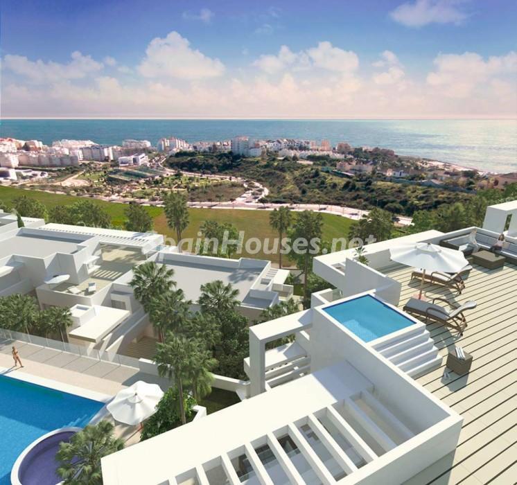 estepona malaga 3 - 12 áticos, pisos y apartamentos con espectaculares y modernas terrazas que miran al mar