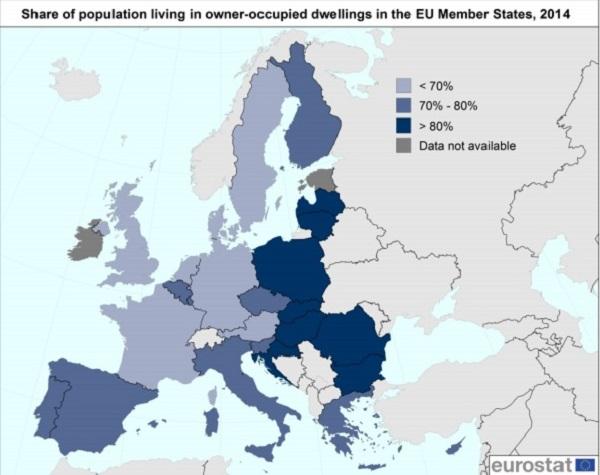eurostat hogares - España, el país europeo donde más gente vive en pisos y de los que más compra