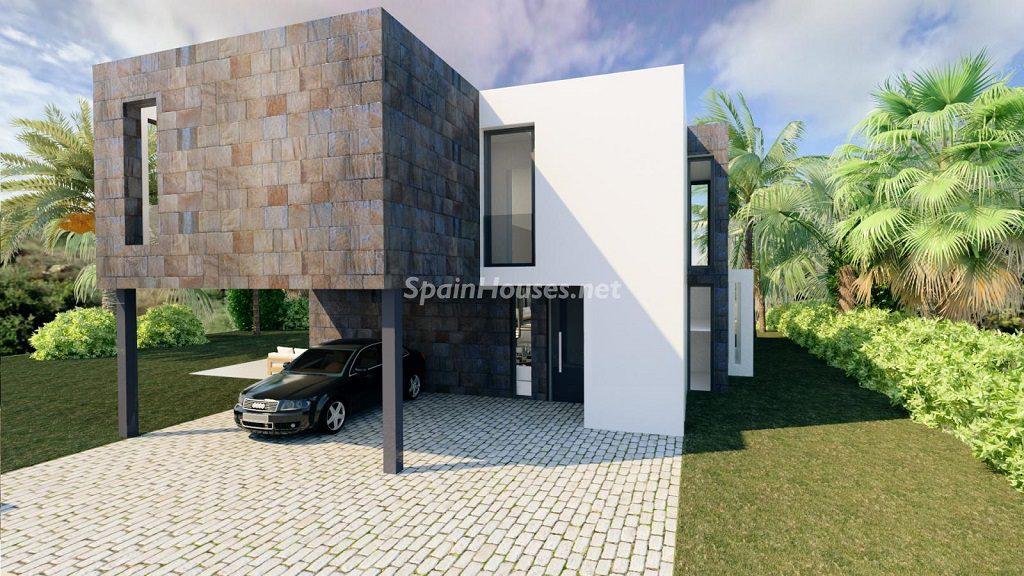 exterior casa 3 1024x576 - Buena Vista Hills, 26 villas modernas con vistas al mar en Mijas (Costa del Sol, Málaga)