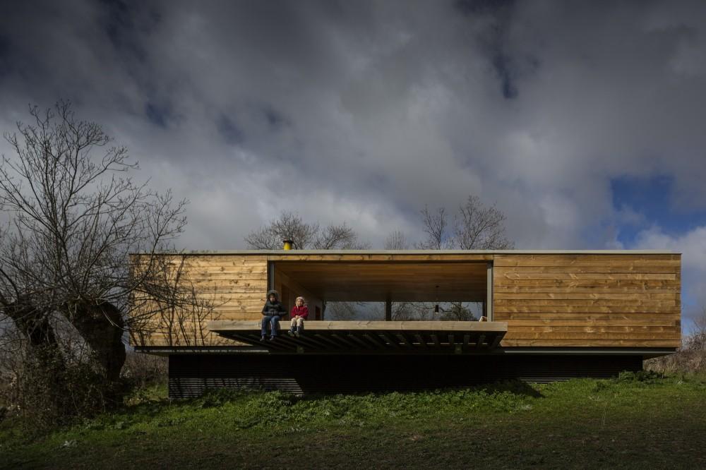 exterior casa - Genial casa de diseño moderno y minimalista en los campos de Castilla