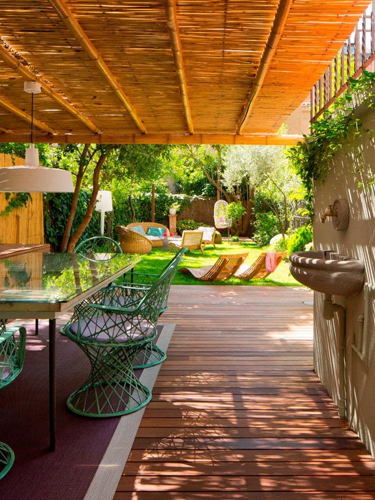 """exterior jardin 2 - Toque """"Art Novou"""" con jardín en una elegante casa modernista en Barcelona"""