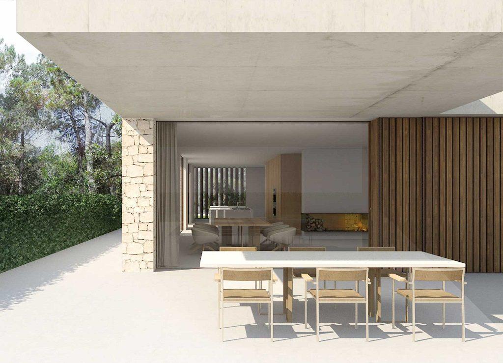 exterior ventanal 1024x739 - En La Cañada, casa contemporánea y minimalista a 5 km de Valencia