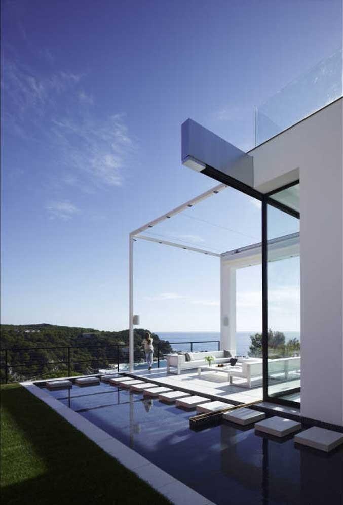 exterior vistas 1 - Diseño en el acantilado en una fantástica casa en Tossa de mar (Costa Brava, Girona)