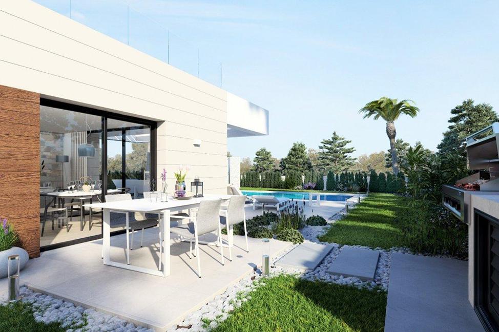 exterior1 2 - Impresionante villa en Alicante, moderna y con amplias zonas verdes