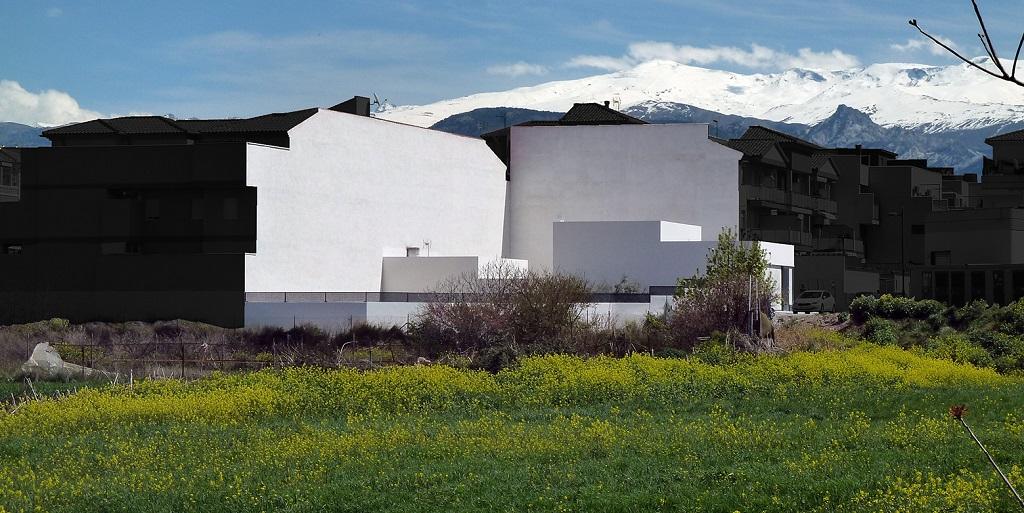 exterior9 - Preciosa casa en Granada de líneas puras y blanco minimalista