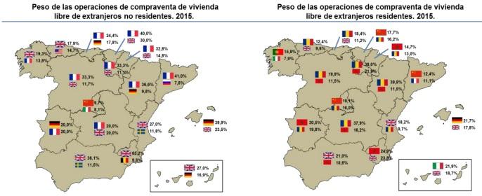 extranjeros2015 notarios - Notarios: La compra de casas por extranjeros subió un 12,9% en 2015, el 20% del total