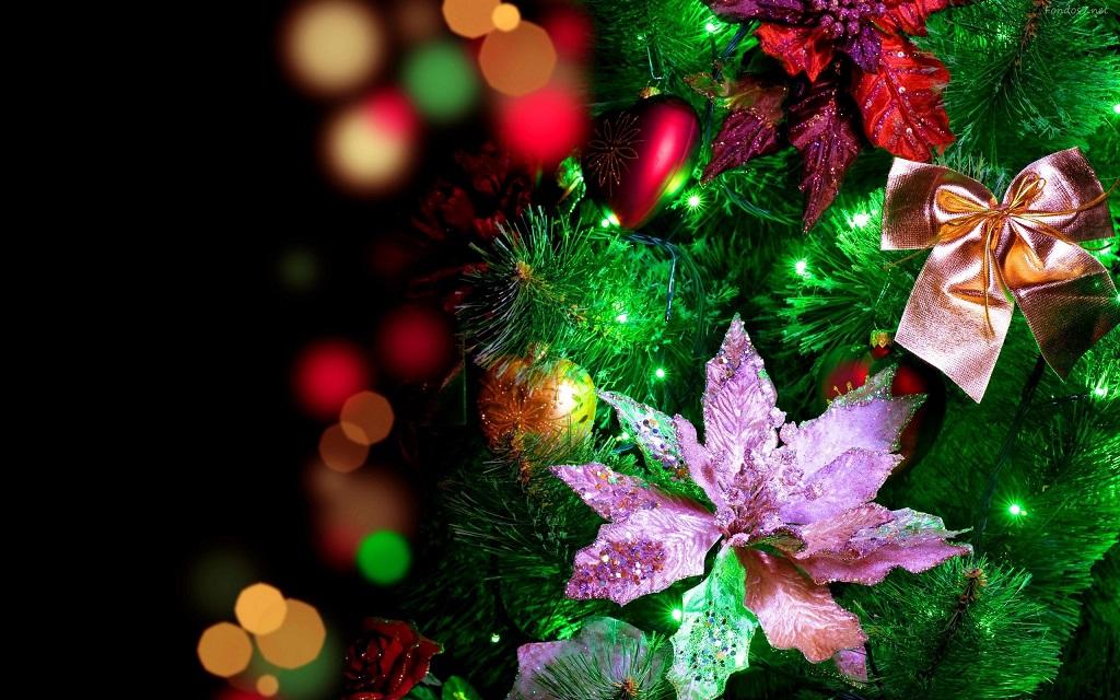 flores arbol navidad - Decorar el árbol de navidad con flores: un ambiente fresco con un resultado espectacular