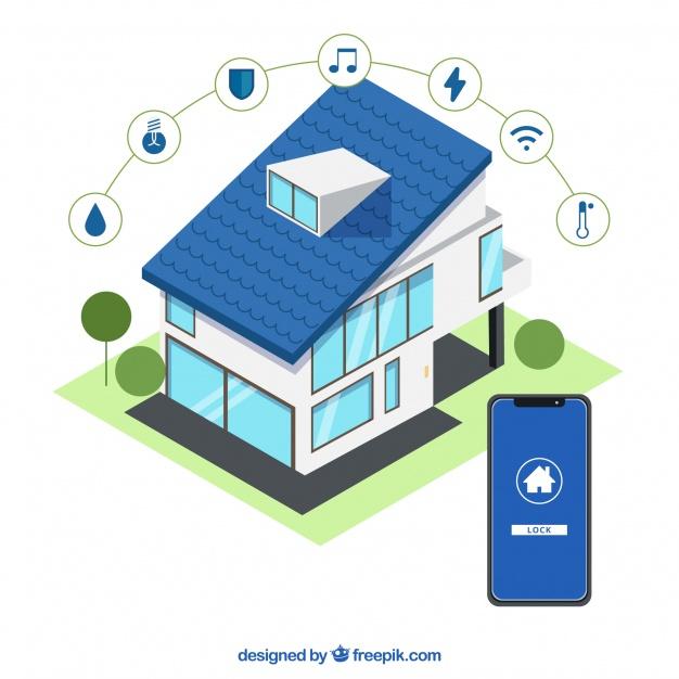 fondo casa inteligente estilo isometrico 23 2147870013 - Tecnologías que ayudan a encontrar la casa que buscamos