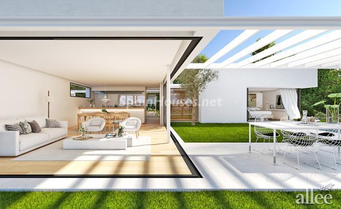 girona - 10 fantásticos salones modernos que se abren a la terraza, a la piscina o al mar