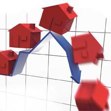 grafico casa e1292506331346 - El precio de los pisos acelera su caída