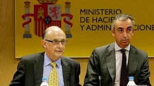 Cristobal Montoro y Miguel Ferre - Ministro y secretario de Hacienda