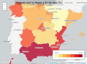 hogaresquenolleganafindemes 300x221 - Economía y empleo en 5 mapas: ¿Qué ciudad tiene más parados, dónde hay más ocupación?