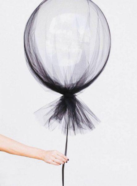 ideas de halloween para decorar globo vestido de gasa 2b25caf1 800x1084 443x600 - Decoración de Halloween elegante y con estilo