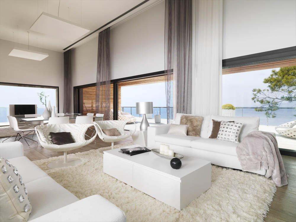 interior vistas - Puro blanco sobre el mar en una espectacular casa en Almuñécar (Costa Tropical, Granada)