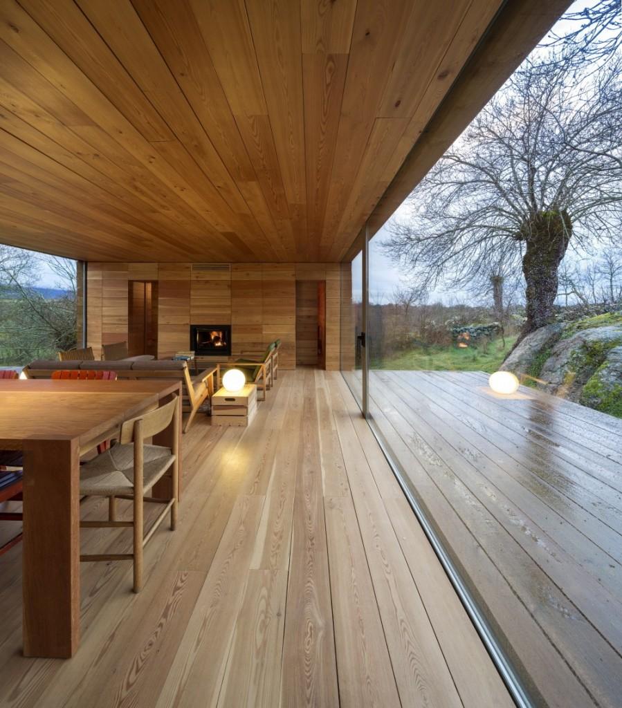 interior14 - Genial casa de diseño moderno y minimalista en los campos de Castilla