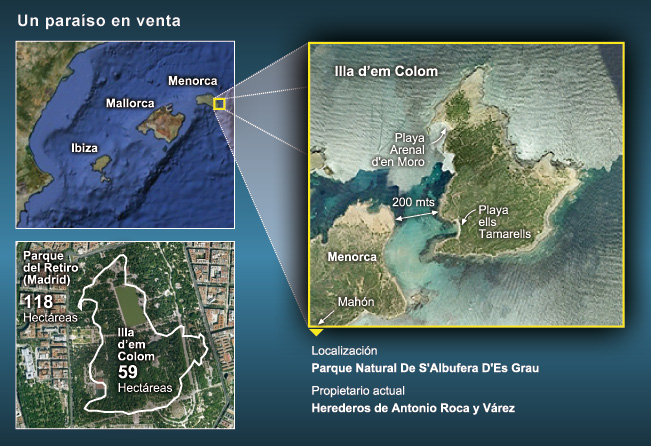 Se vende isla en Menorca