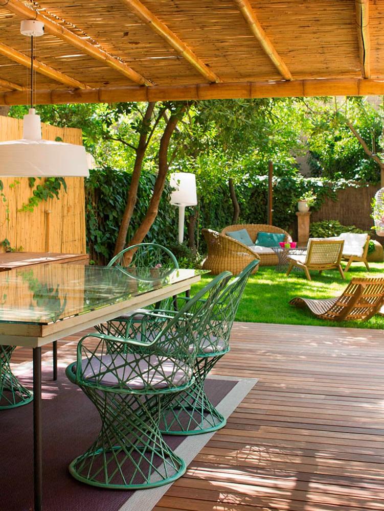 """jardin3 1 - Toque """"Art Novou"""" con jardín en una elegante casa modernista en Barcelona"""