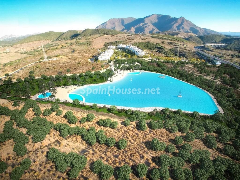 laguna3 1024x768 - Crystal Lagoons, Casares (Málaga): Apartamentos en 1ª línea de playa, a 10 km del mar