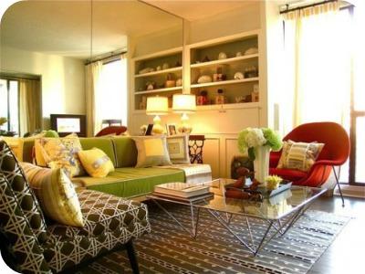 living room - Pisos pequeños: Ideas para decorar tu salón-cocina